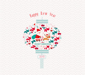 Chinese christmas and New Year Element design