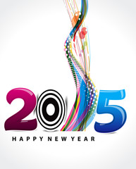 happy new year 2015 wave background