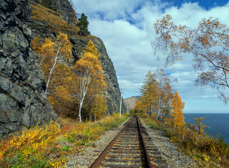 Autumn on the Circum-Baikal railroad