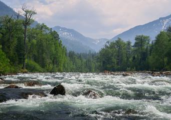 River Selenginka in Khamar-Daban mountains