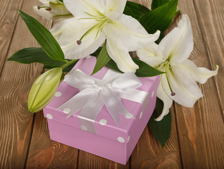 White lily and box