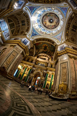 Interior of Saint Isaac's Cathedral in Saint Petersburg