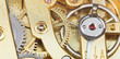 brass mechanical movement of vintage watch
