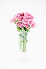 Pink roses bouquet, soft focus