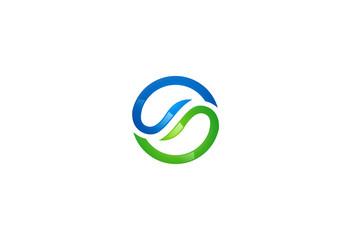 circle balance vector logo