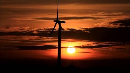 Windenergie,  Windkraft, Strom, Sonnenuntergang