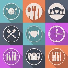 kitchen food icon logo