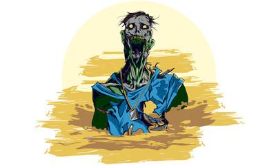 Broken Jaws Zombie Illustration