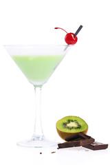 Fruit mousse cocktail