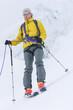 Am Seil gesichert auf Skitour