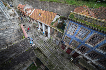 Old City of Porto in Portugal from Above