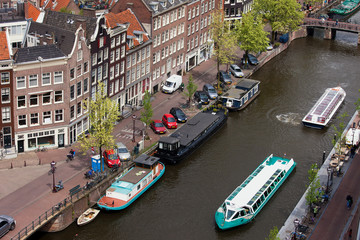 City of Amsterdam in Holland from Above