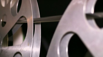 35mm Film Cinema Reels Rewinding