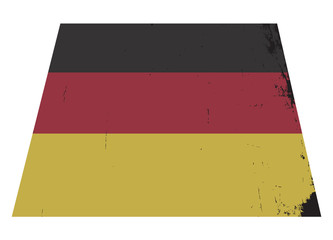 German Flag Grunged
