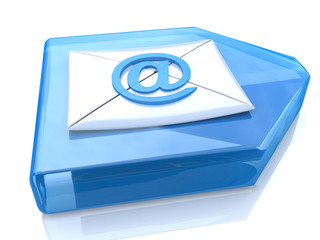E-Mail Envelope and blue arrow
