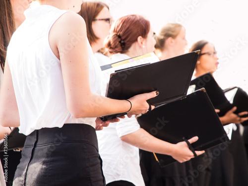 Leinwanddruck Bild Chorsängerinnen