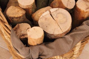 Holz im Korb