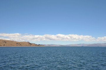 Mountain lake Titicaca