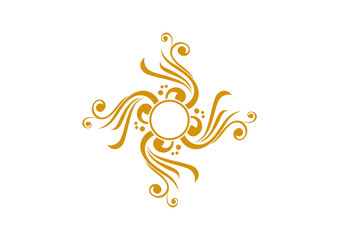 Yellow ornamental element design