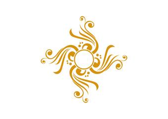 Yellow ornamental element design