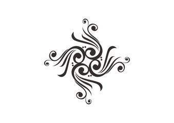 Black ornamental element design