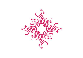 Pink ornamental element design