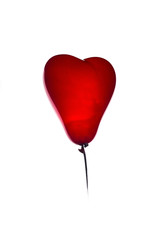 Balloon in the form of heart