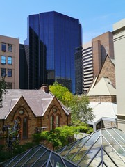 Modern architecture in the commercial district in Adelaide