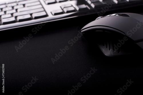 Leinwanddruck Bild mouse & keyboard