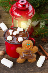 gingerbread man close  up