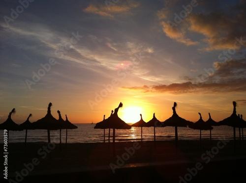 canvas print picture Sonnenuntergang Palma