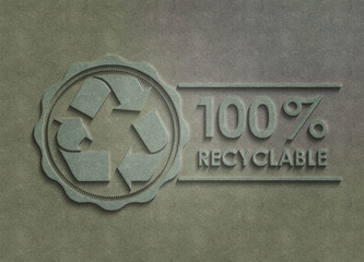 100 Prozent Recyclable - Stoff
