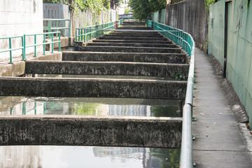 small canal in  Bangkok ,Thailand