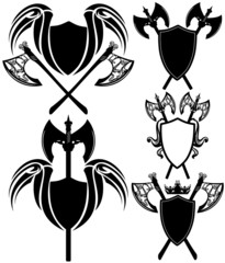 shields and axes detailed design elements