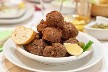 Keftedes, meat balls, griechisch