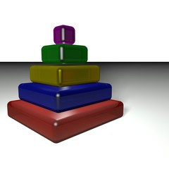 Pyramid of colors