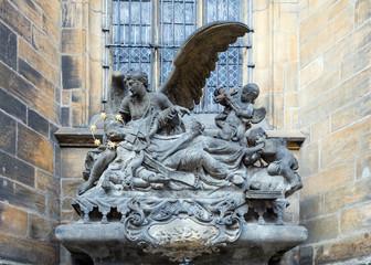 St. John of Nepomuk Cenotaph, St. Vitus exterior, Prague