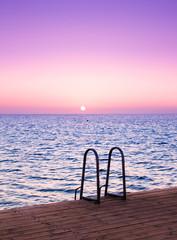 Sunrise Pier and Nobody
