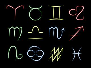 Zodiac Symbol neon