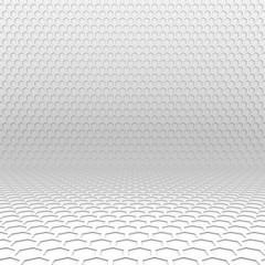 Light hexagon perspective background