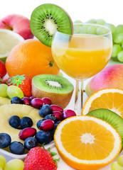 Saft und Obst