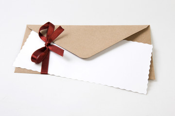 Christmas decorated envelope