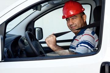 Portrait of van driver