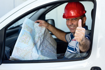 Driver with map