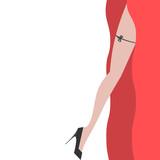 Elegant sexy women high heel shoe vector isolated