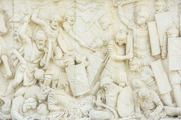 Roman And Dacian War Fight Scene On A Relief