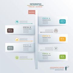 paper tab timeline infographic