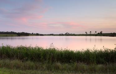 Sunset Duralia Lake Penrith Australia