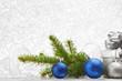 Obrazy na płótnie, fototapety, zdjęcia, fotoobrazy drukowane : Christmas fir and decoration