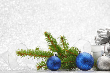 Christmas fir and decoration